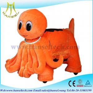 Quality Hansel stuffed animal ride electric stuffed animals plush wheel for sale