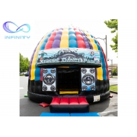 Quality 0.55mm  Pvc Tarpaulin Inflatable Disco Dome Bounce House for sale