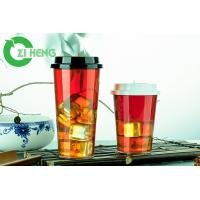 Quality Recyclable Juice Disposable Plastic Cups With Lids Durable Superb Clarity for sale