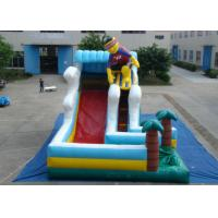 Quality Surfboard Man Outdoor Inflatable Water Slide , Party Big Blow Up Water Slides for sale