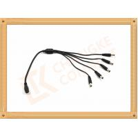 Quality Male To Female Custom Power Cables DC12V 5.5X2.1 Mm 1 To 5 Y Type for sale