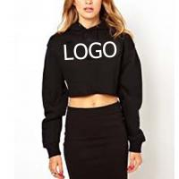 Quality Mix Size Printed  Womens Fleece Pullover , Sexy Oversized Cropped Hoodie for sale