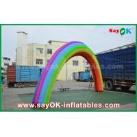 Buy 7mL X 4mH Giant Inflatable Entrance Arch / Rainbow Arch Oxford Cloth for Event at wholesale prices
