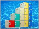 Quality Clover Keyless Plastic Gym Lockers 5 Tier 1810 × 310 × 460mm Red Storage Lockers for sale