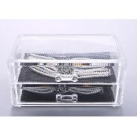 Buy Two Drawers Jewellery Organizer Box Plastic Crystal PS 198 x 102 x 93mm at wholesale prices