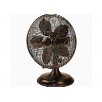 Quality Retro Electric Fan Decorative Air Circulator Oil Rubbed Bronze Finish VDE Plug for sale