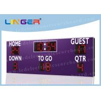 Quality Wireless Buttons Controller Box LED Football Scoreboard for American Football Club for sale