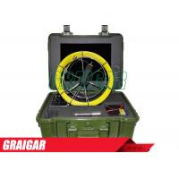 Quality TV Drain Pipe Inspection Camera Systems with 15 inch Monitor Underwater Drainage Inspection Camera for sale
