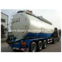 China Stainless Steel / Aluminum 40cbm to 70cbm Tri axle cement tank trailer with 2 tool boxes on sale