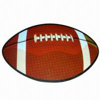 Quality Rubber magnet in design of football style, customized designs are welcome for sale