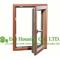 Quality Casement Wood Clad Aluminum Window with Insulating Double Glass For Villas,Inside Opening for sale