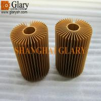 China GLR-HS-720 champagne gold anodized round aluminum heatsink, 3.75 led cooler on sale