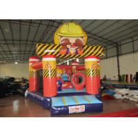 Quality New Construction workers inflatable bouncer inflatable construction site jump house for sale for sale