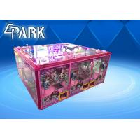 China Pink Cute Coin Operated Crane Game Machine / Toy Vending Machine on sale