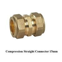 China compression fitting straight 15mm for copper pipe for sale