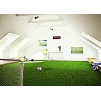 Buy Soft Touching Synthetic Turf Football Field PE 50mm Green SGS Approved at wholesale prices