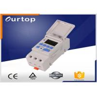 Quality 86*36*66mm Programmable Digital Timer Switch , On Off Din Rail Timer Switch for sale