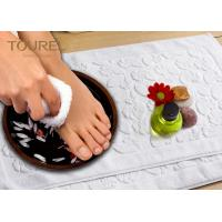 Quality Prasied Jacquard Jacquard Bath Mat White Color With Embossed Logo for sale