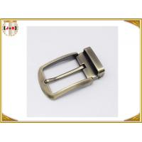 Quality Environmental Safety Plating Reversible Belt Buckle With CNC Engrave Logo for sale