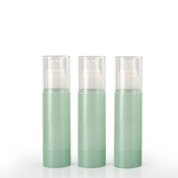 Quality Green Cosmetic PET Empty Packaging Plastic Lotion Bottles for sale