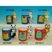 Quality Durable Household Ceramics Cartoon Coffee Cup With Panda Animals Handle 12 X 8 X 13 Cm for sale