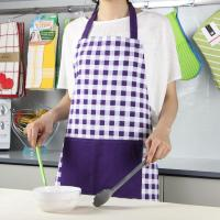 Quality Purple Color Small Checker Pattern Bib Style Home Kitchen Apron 70x80cm or Customized for sale