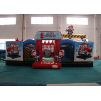 Quality Customized Fire Truck Design Inflatable Fun City Fireproof 8 X 6 X 5m In Public for sale