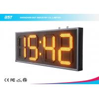 """Quality Yellow 10"""" Led Clock Display Digital Clock Timer For Sport Stadium for sale"""