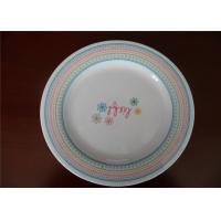 Buy cheap Natural Bamboo Fibre  Blue And White Melamine Plates For Professional Star Hotel from wholesalers
