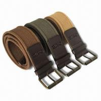 High-quality Men's Fashionable Cotton Webbing Belts with 3.8cm Length, Eco-friendly for sale