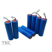 Quality 3.7V ICR18650 / 2300mAh Lithium Ion Cylindrical Battery With Connector for sale