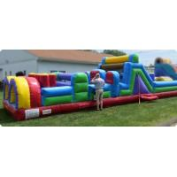 Quality Giant Pool Inflatable Obstacle Course 40 Foot Kids Obstacle Course Water Slide for sale