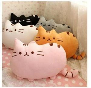 Buy cheap 40cm Pusheen the cat Short soft plush toys Cartoon doll Cushion Black Gray Brown White from wholesalers