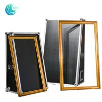 Entertainment selfie portable magic mirror photo booth with flight case