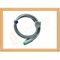 Fukuda 12 Pin ECG Patient Cable 3 Leads Gray Color CK-03-330 PN , Fast Response