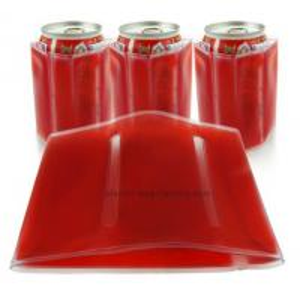 Quality Customized PVC Wine Bottle Carrier Bag , Logo Printed Bottle Cooler Bag for sale