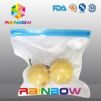 China Poly vacuum texture food storage pouch / slider zipper food vacuum seal bags on sale