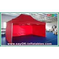 Quality Oxford Cloth Durable Pop-up Tent Aluminum Frames Red With Printing for sale