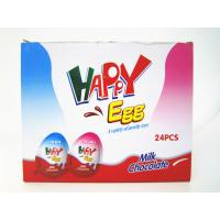 Quality Milk And Chocolate Chips Cookies Flavor Happy Egg In Box With a Lovely Toy for sale