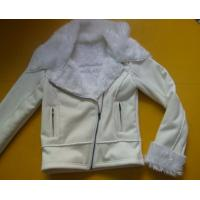 Quality 100 Polyester Bomber Jacket , Suede And Fur Joint Ladies Hooded Jacket for sale