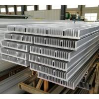 China Large size silver anodized extruded aluminum heatsink profile for industrial machine on sale