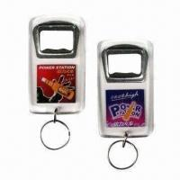 Quality Acrylic Bottle Opener Keychains, Customized Designs are Accepted for sale