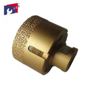 Quality Golden Porcelain Tile Drill Bit , Hollow Diamond Drill Bits 5 / 8-11 Thread for sale