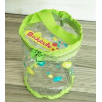 Quality Non-toxic Round PVC Baby Toys / Clothes Organizer Pouch for Promotional Dispaly for sale