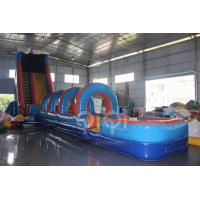 Quality 61FT Wave Inflatable Slip N Water Slide for sale