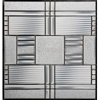 Quality decorative glass panels with simple designs for sale
