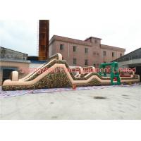 Quality Giant Camouflage Inflatable Obstacle Course , Boot Camp Obstacle Course For Kids 24*3.5m for sale