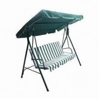 Quality Economical 3-seat Swing Chair with Steel Tube Frame, Measures 175 x 110 x 153cm for sale