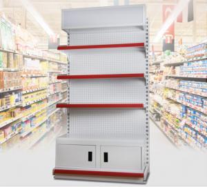 3 Layer Supermarket Display Shelving Pharmacy Display Racks With LED Light
