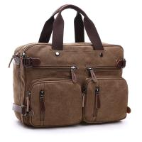 Quality Dual Use Canvas Office Laptop Bags ,  15 Inch Laptop Messenger Bags School Use Durable for sale